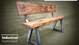 Industrial Rustic Bench