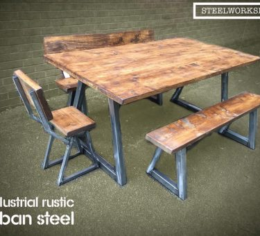 Industrial_Rustic_Dinning_Table