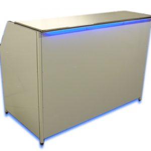 white mobile folding bar